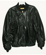 Leather Bomber Jacket Black Lambskin Mens Peter... - $89.99
