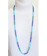 Bohemian 90s Exquisite Knotted Cut Glass Neckla... - $29.95