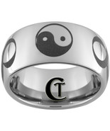 10mm Tungsten Carbide Dome YinYang Infinity Des... - $49.00