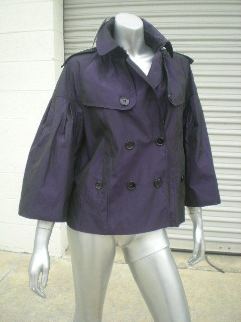 NWT $895 Burberry Iridescent Taffeta Trench Coat Jacket