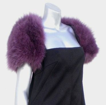 NWT Neiman Marcus Real Fox Fur Shrug Cape Bolero Jacket
