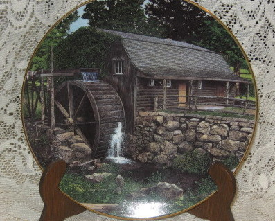 Old Mill Stream -Collector Plates-Knowles -Set of 4
