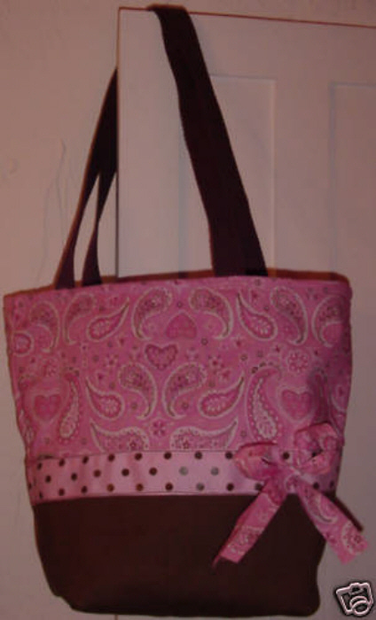 Pink & Brown John Deere Handmade Purse - Tote