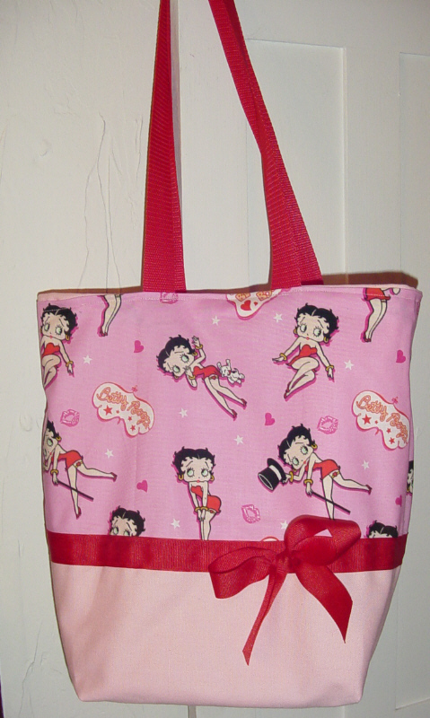 *SALE* Pink & Red Betty Boop BAG Purse - Tote
