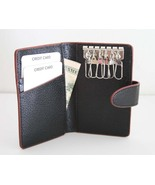 NEW BIFOLD KEY CASE with 6 KEY HOOKS - CUTE - $11.99