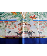 Hermes scarf - Tropiques - electric blue border - $310.00