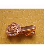 Men vintage crown sword gold tone circle of bli... - $14.99