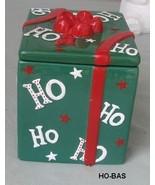 Ho Ho Ho Holiday Christmas Present Cookie Jar - $12.00