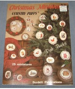 Christmas Miniatures Country Puffs Cross Stitch... - $4.50