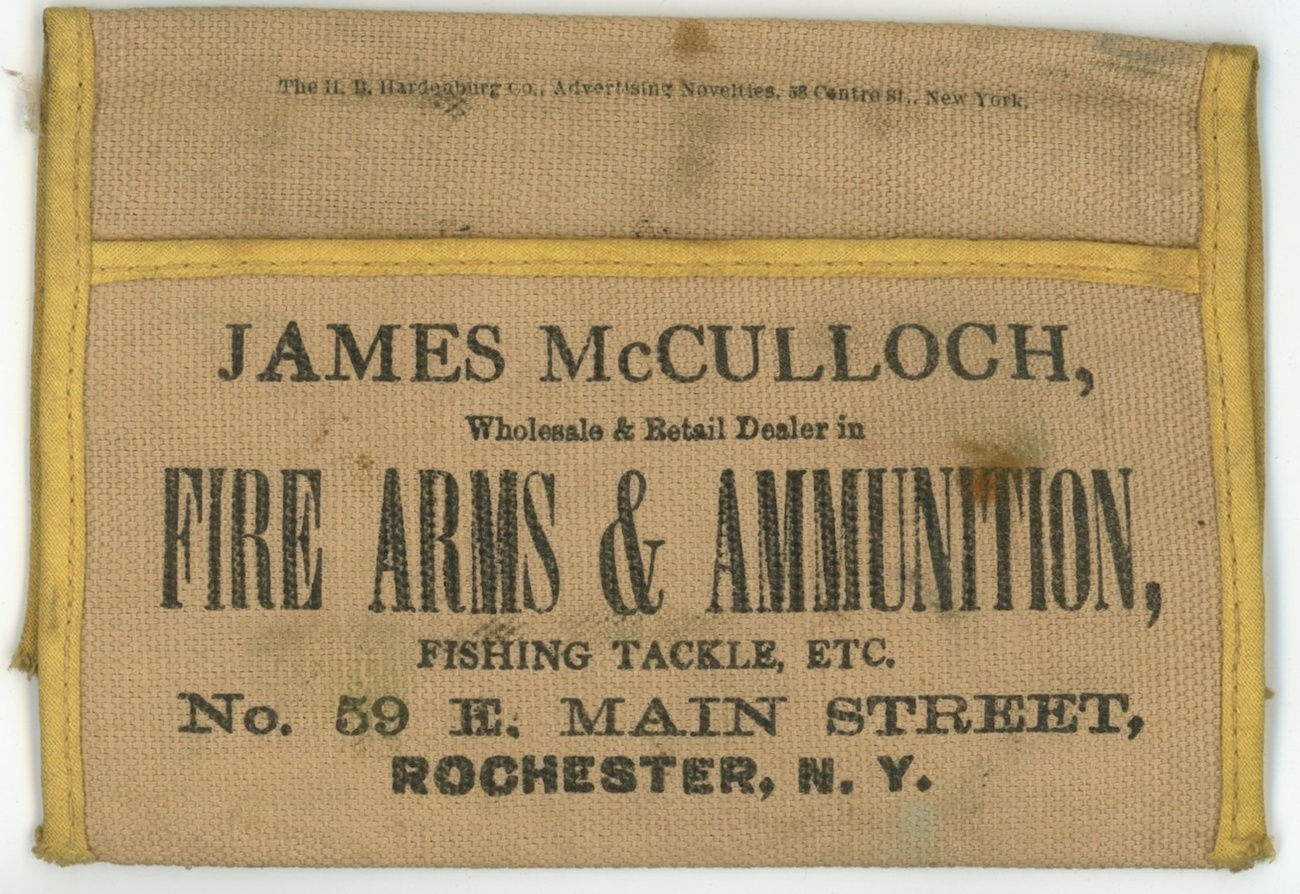 fly fishing vintage wallet advertising guns ammunition Roche