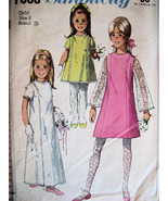 Simplicity 7568 Vintage 60s Pattern Girls 6 Flo... - $9.95