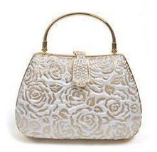 _55___eb70801__metal_mini_clutch_w-gold_trim__6.25w_x_4.25h_x_2.5d__rose_pattern_fabric_finish__gold-plated_metal_frame__rhinestone_accents__flip_snap_closure__removable_sholder_chain__xtra_crystals_included_thumb200