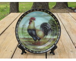 Buy Decorative Plant Stands - Rooster Plate and Display Stand Farm Country Glass