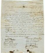 circa 1850 Petition Town of KINGSTON, NH to Mov... - $45.00