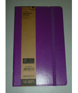 PURPLE LEATHERETTE JOURNAL LINED PAPER 120 SHEE... - $11.97