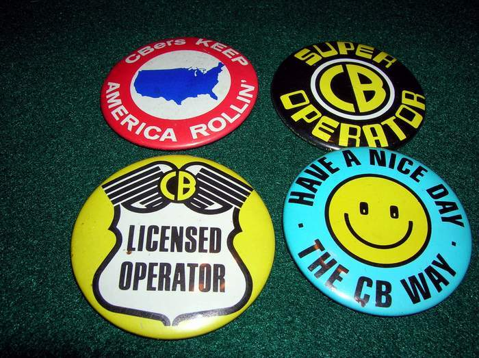 Vintage 1970s CB Radio Button Lot