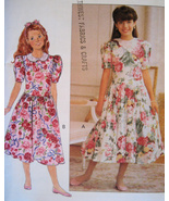 Butterick 6014 Vintage 80s Pattern Girls 12 to ... - $9.95