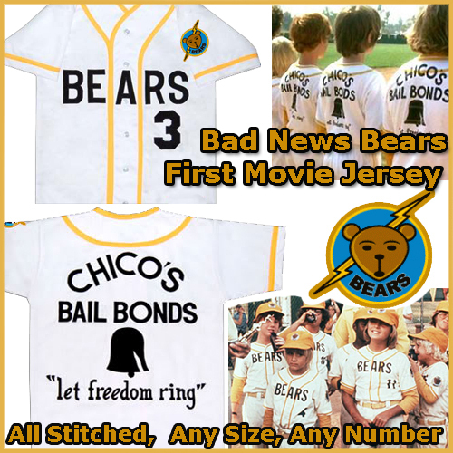 Bad News Bears Baseball Jersey Chico's Bail Bonds Size 4X