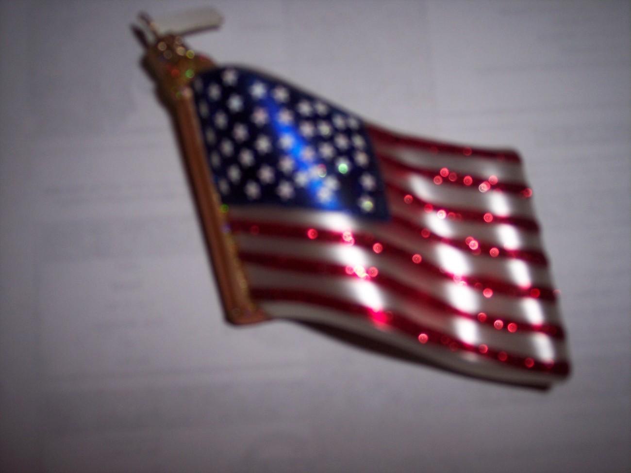 American flag christmas ornament patriotic