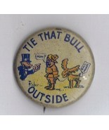 1912 Original Rare Cartoon Teddy Roosevelt Pinback.
