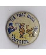 1912 Original Rare Cartoon Teddy Roosevelt Pinback. - $57.00