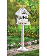 White Wood Victorian Birdhouse - $16.00