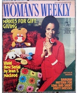 Woman's Weekly Magazine, November 30 1974 Bears, Knitting & Fiction
