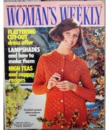 Woman's Weekly Magazine, February 19 1972 Lampshades Knitting