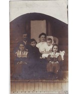Vintage Real Photo Postcard Family Chairs Wicke... - $6.00