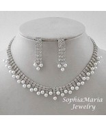 Bridal jewelry set bridesmaids wedding party pe... - $18.80