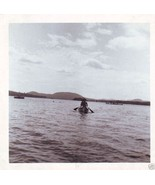 Vintage Photograph CANOE on LAKE Great Old Snap... - $6.00