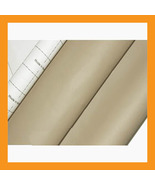 beige adhesive faux leather upholstery vinyl fa... - $21.50