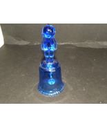 Kewpie Doll Bell Cobalt Blue Glass  - $10.00