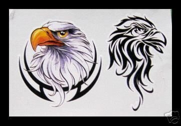 Tribal Bald Eagle Outline Temporary Tattoo Tattoos