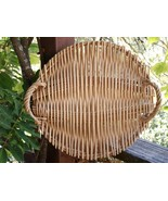 Williams - Sonoma WICKER TRAY with Handles - Ex... - $9.50