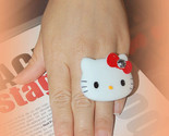 Buy Rings - Big Hello kitty Red Bow & Rhinestone Ring AdjustableHello ki