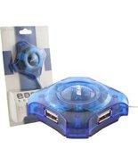 4-Port USB Mini Hub (Translucent Blue), BRAND NEW - $12.00