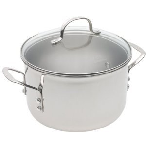 Calphalon Tri-Ply Stainless 6-Quart Saucepot with Glass Lid