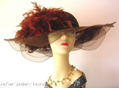 BROWN DESIGNER Derby Hat Church Kentucky Derby Hats Taylor
