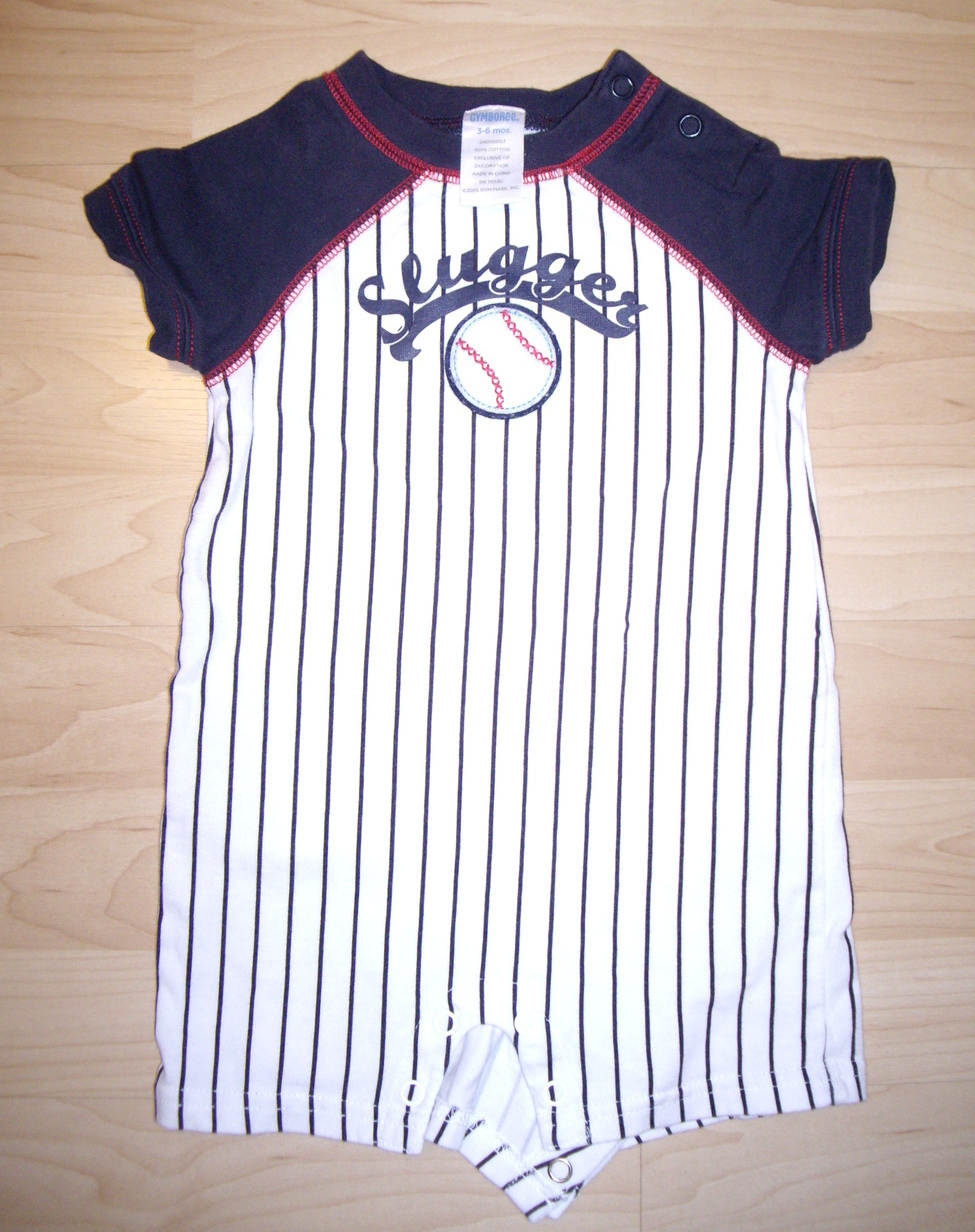 Gymboree Baby Boy Sleep & Play Outfit (Baseball) (3 - 6 mos)