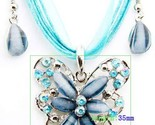 Buy Matching Sets - Blue Butterfly with Crystals and matching errings