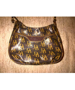  Dooney &amp; Bourke Mini Margot Cross Body Brown T&#39;Moro 1975 Signature NWT