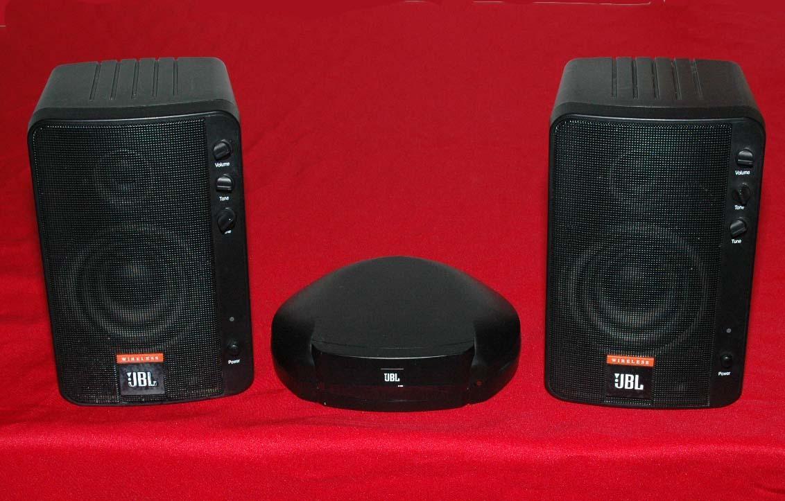 Jbl Wireless 2 Way Speaker System Wrk1000 Nice Condition