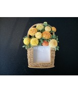 BASKET OF FLOWERS PICTURE FRAME - Very Detailed... - $3.99