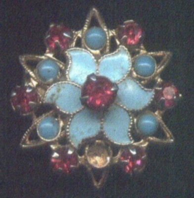 Very Pretty Blue Antique Pin