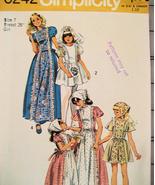 Simplicity 6242 Vintage 70s Pattern Classic Flo... - $9.95