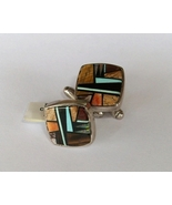 Sterling Silver Inlay Cufflinks, Native America... - $200.00