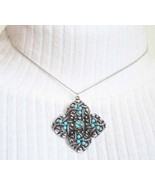 Avon Ancient Style Simulated Turquoise & Rhines... - $14.95