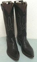 Nocona Black Leather Western Boots - Bonanzle