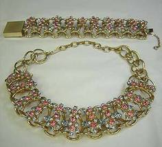 Gold Tone Rhinestone Costume Jewerly Set - San Antonio - Bonanzle :  costume jewelry bracelets necklaces style
